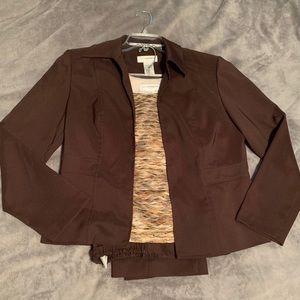 3 piece Sag Harbor brown pant suit